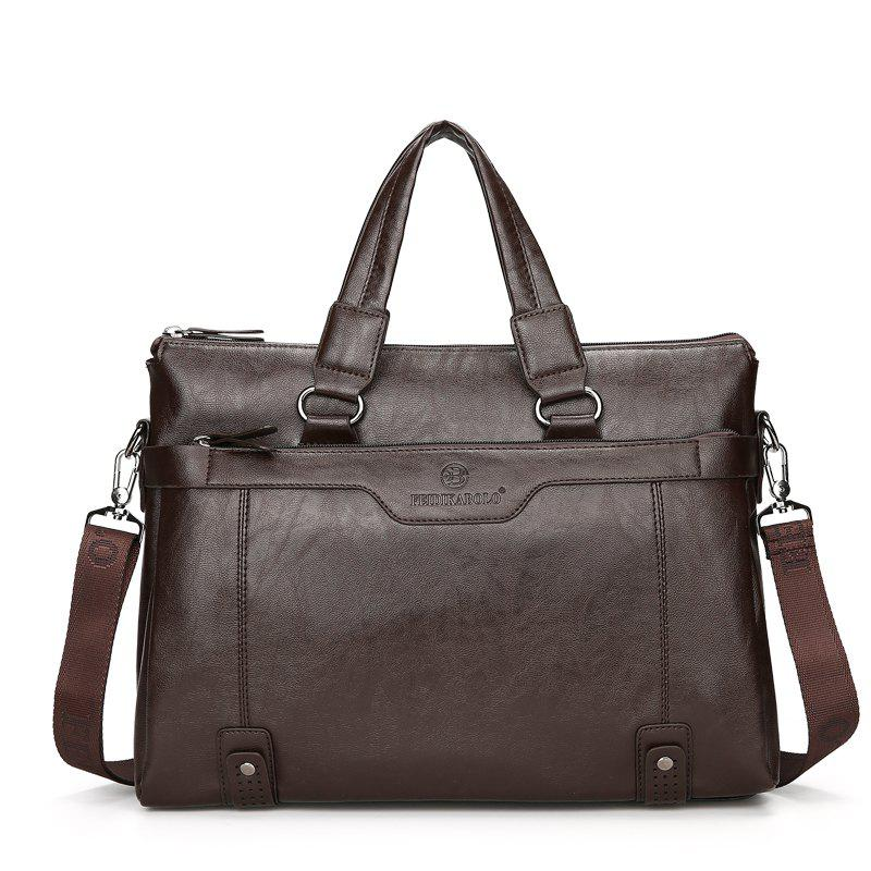 New Casual Fashion Briefcase Men - DEEP BROWN