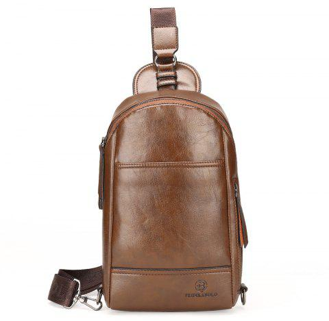 New Casual Diagonal Briefcase Male - LIGHT BROWN