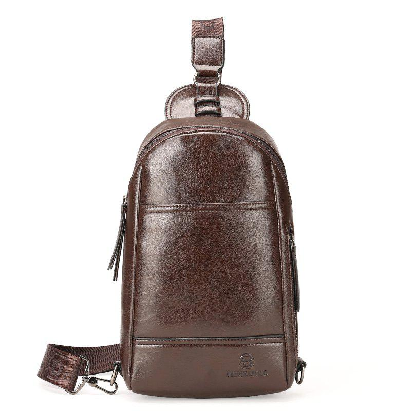 New Casual Diagonal Briefcase Male - DEEP BROWN