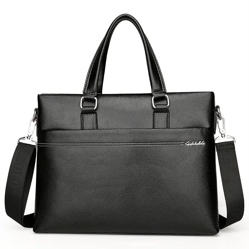 New Casual Fashion Portable Shoulder Bag Briefcase Male - BLACK