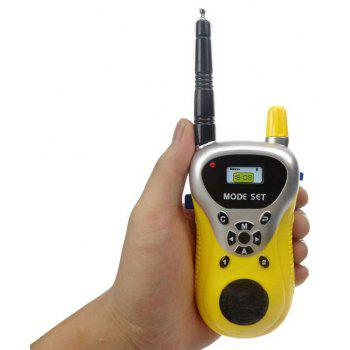 Electric Walkie Talkies Artifact Toy To Coax Baby - YELLOW