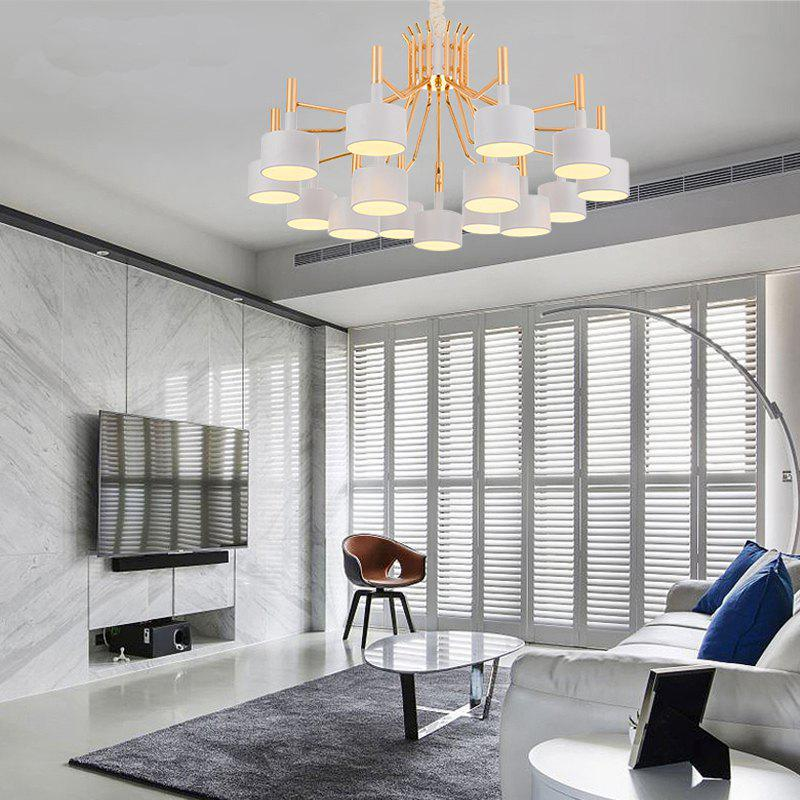 Nordic Living Room Simple Modern Restaurant Lamp Creative Personality Chandelier - WHITE
