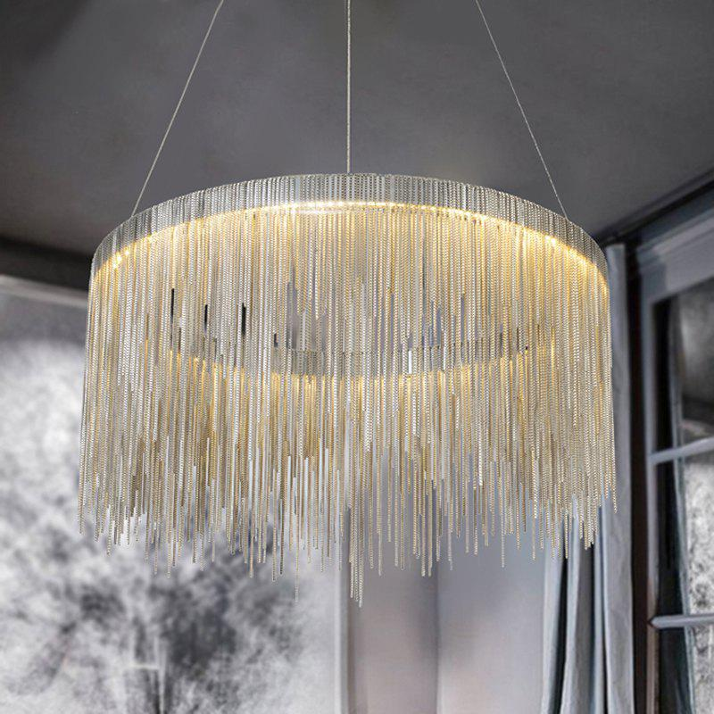 Nordic Modern Simplified Phere Tassel Personality Lamp Living Room Bedroom Art Creative Pendant Light - GOLDEN