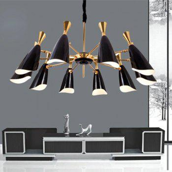 Nordic Modern Industrial Style Creative Chandelier for Living Room Restaurant - BLACK