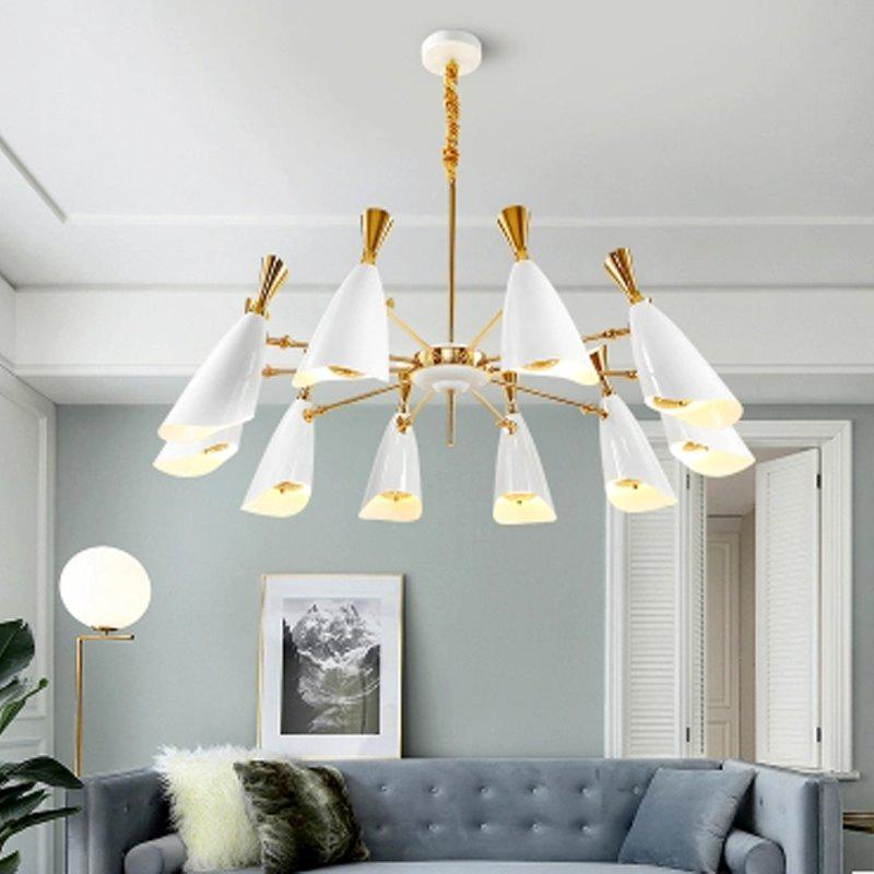 Nordic Modern Industrial Style Creative Chandelier for Living Room Restaurant - WHITE