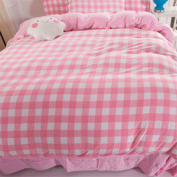 Warm and Modern Style Bedding Set - PINK FULL