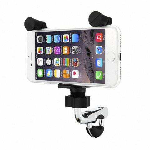 New Motorcycle E-Bike Bicycle 2 in 1 Phone Stand Holder Mount Bracket - BLACK