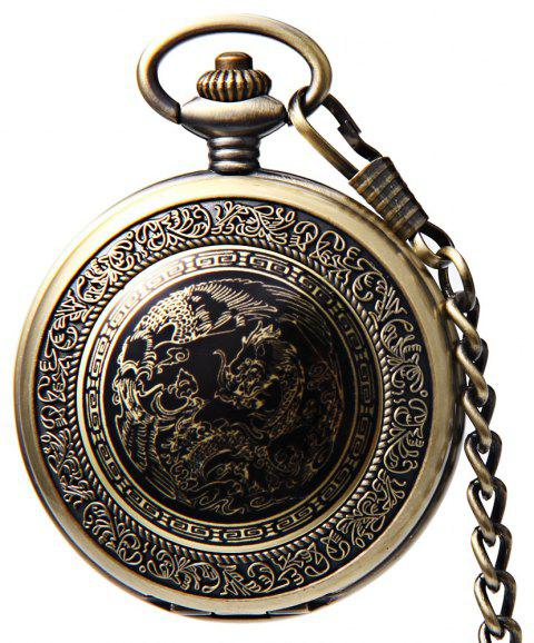 Retro Good Fortune Bronze Mechanical Pocket Watch - BRONZED