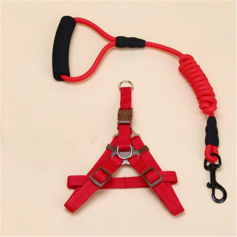 Pet Traction Rope Chest Chain Pet Supplies - RED SIZE XL