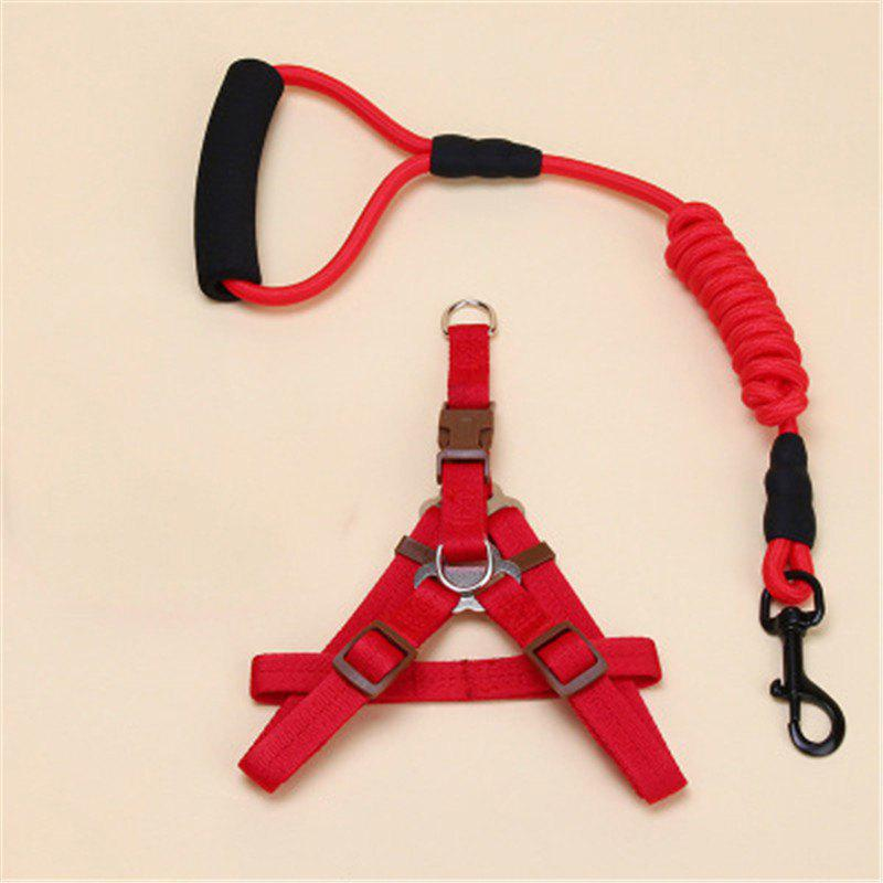 Pet Traction Rope Chest Chain Pet Supplies - RED SIZE M
