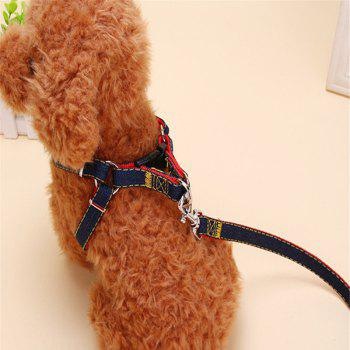 3PCS Pet Cowboy Chest Strap Collar for Traction Rope - RED SIZE M