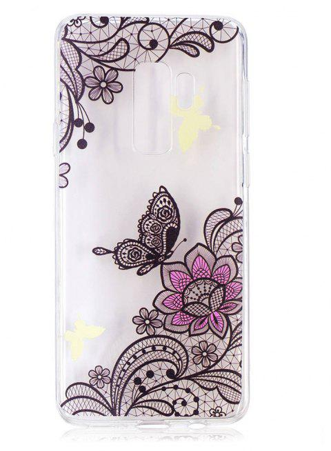 TPU Material Diagonal Flowers Pattern Painted Phone Case for Samsung Galaxy S9 Plus - COLOUR