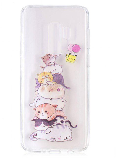 TPU Material Cats Pattern Painted Phone Case for Samsung Galaxy S9 Plus - COLOUR