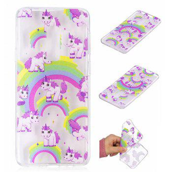 TPU Material Unicorn Pattern Painted Phone Case for Samsung Galaxy S9 Plus - COLOUR