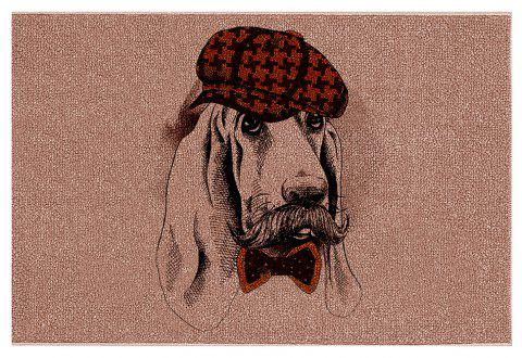 Gentleman Puppy With  Hand Painted Hat Shave Shoe Insoles Door Carpet - COLORMIX 40CM*60CM