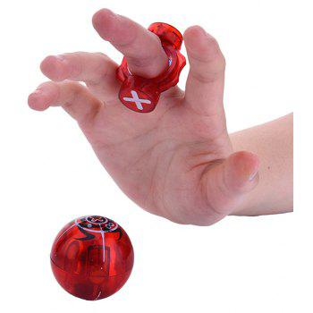 Magic Magnet Finger Ball Speed Spheres Spinner Play Game Stress Reducer Toy Gift - RED