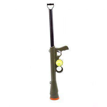 Lanceur de jouet de balle de tennis de chien pour la formation d'animal familier Lancer Fetch Play Outdoor - GREEN