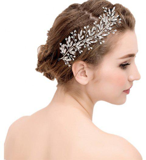 Exqusite Bead Strand Hair Pin Jewelry for Wedding Bride - WHITE