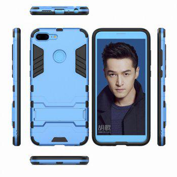 For HUAWEI Honor 9 Lite Case Hybrid Armor TPU + PC Case with Kickstand Holder Cover - BLUE