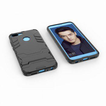 For HUAWEI Honor 9 Lite Case Hybrid Armor TPU + PC Case with Kickstand Holder Cover - BLACK