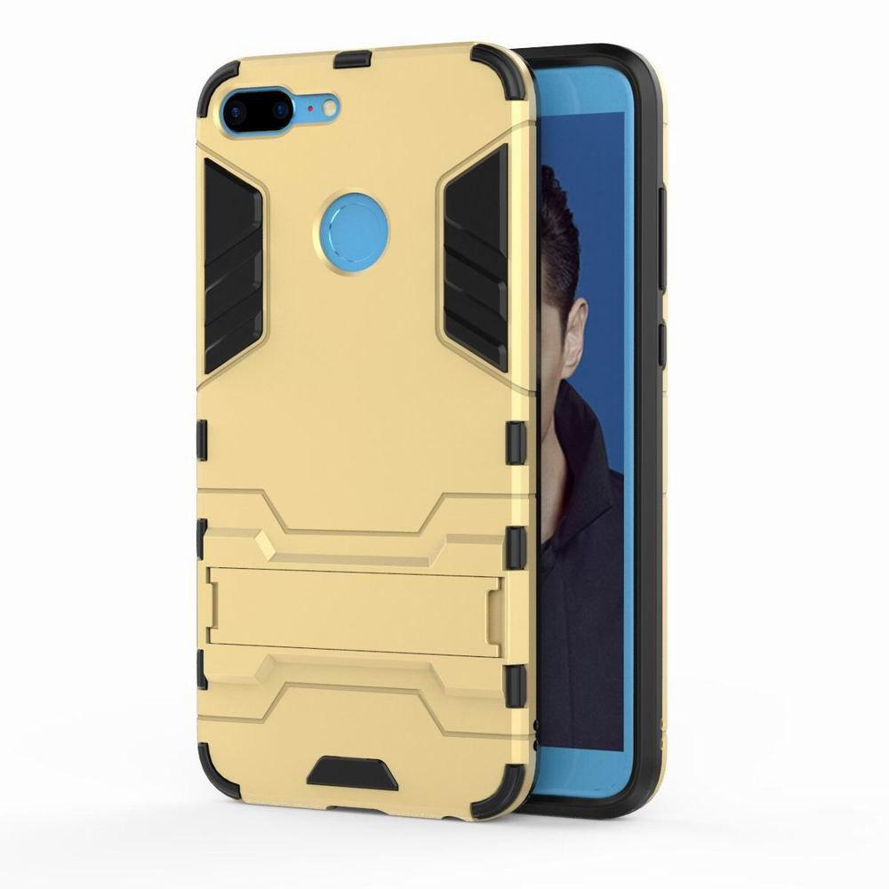 For HUAWEI Honor 9 Lite Case Hybrid Armor TPU + PC Case with Kickstand Holder Cover - GOLDEN