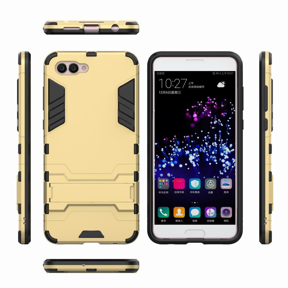 For HUAWEI Nova 2S Case Hybrid Armor TPU + PC Case with Kickstand Holder Cover - GOLDEN
