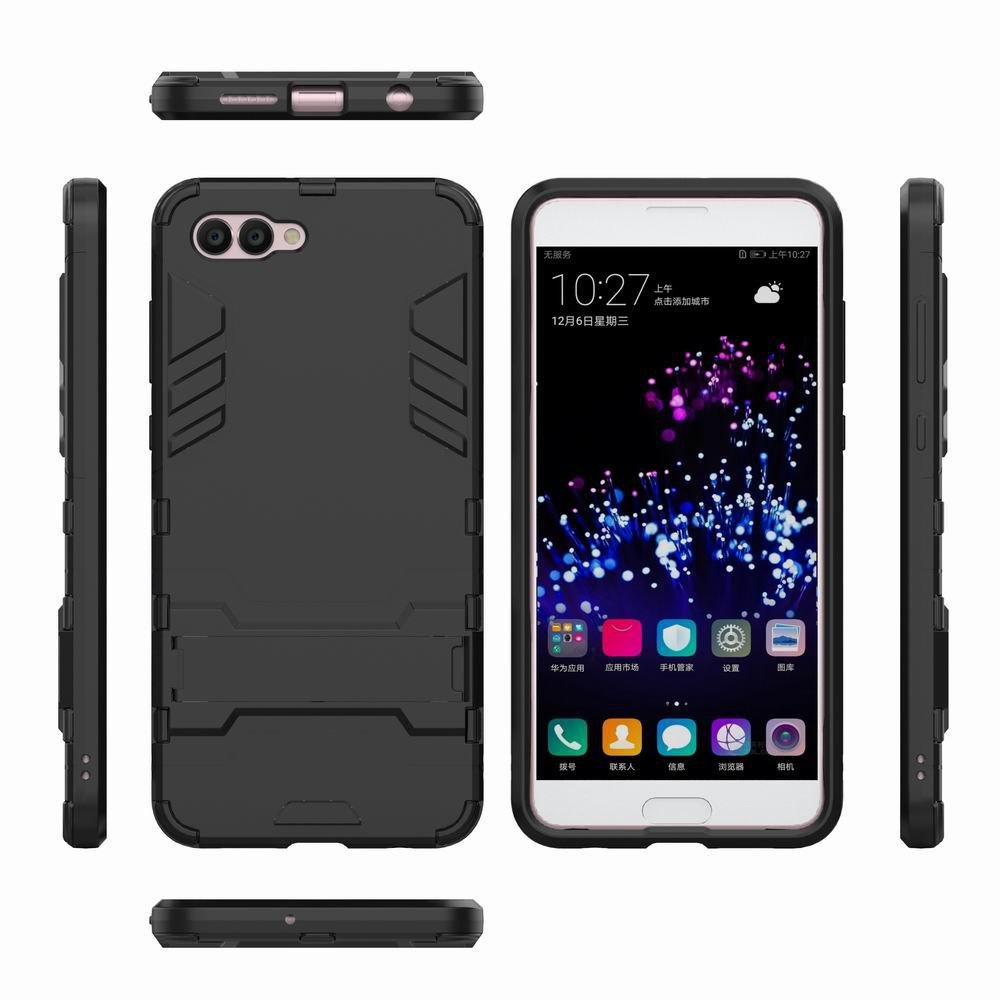 For HUAWEI Nova 2S Case Hybrid Armor TPU + PC Case with Kickstand Holder Cover - BLACK