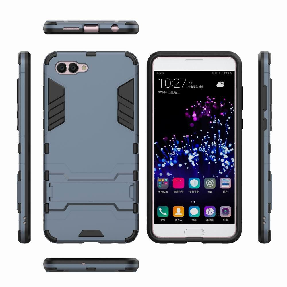For HUAWEI Nova 2S Case Hybrid Armor TPU + PC Case with Kickstand Holder Cover - NAVY