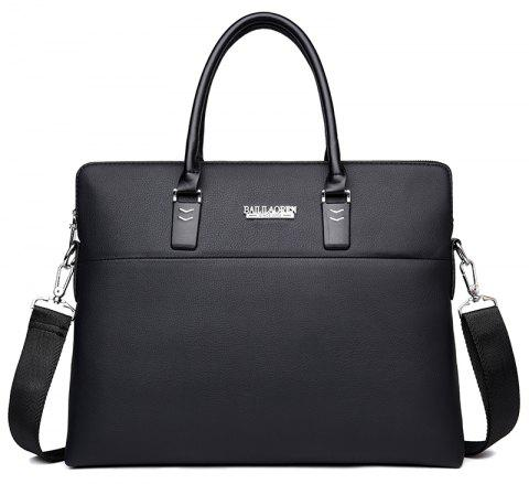 Fashion Wild Messenger Men's Briefcase - BLACK