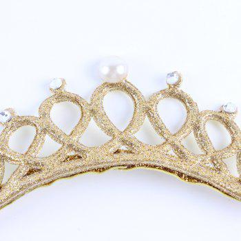 New Lovely Baby Pearl Crystal Crown Headband Stretchable Hair Band Kids Headwear Accessories Photo Prop - GOLD