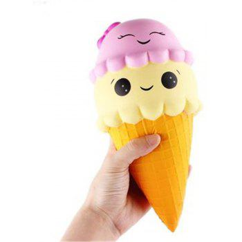 Jumbo Squishy Ice Cream Cone 22cm Slow Rising Collection Gift Toy - COLORMIX