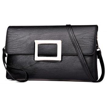 Female Shoulder Messenger Hand Bag - BLACK