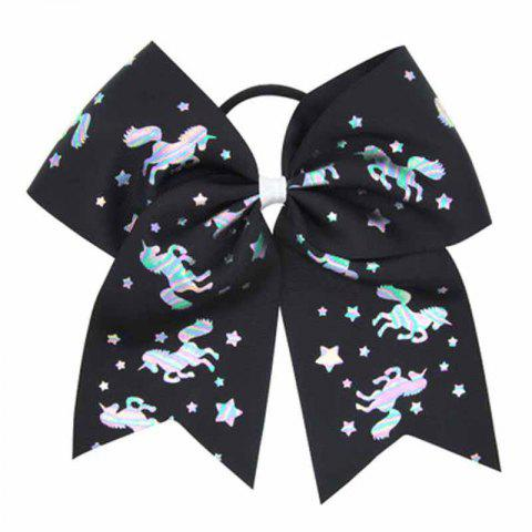 Girls Big Bow HairBand Children Headband Colored Swallowtail Hair Accessories - BLACK 1PC