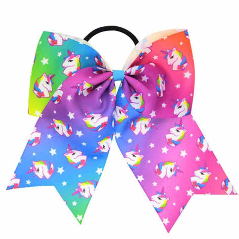 Girls Big Bow HairBand Children Headband Colored Swallowtail Hair Accessories - FLORAL 1PC