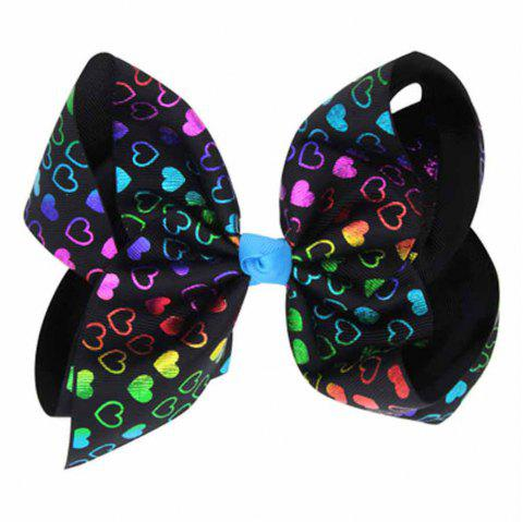 Children Large Bow Hairpin Unicorn Fancy Girls Colord Hair Accessories - BLACK A 1PC