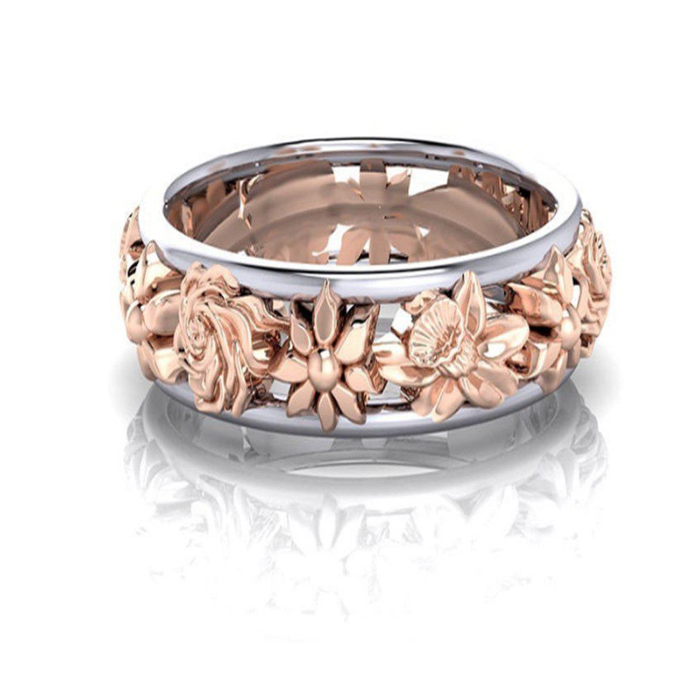 Europe and The United States Plum Gold Ring Female - ROSE GOLD US SIZE 8
