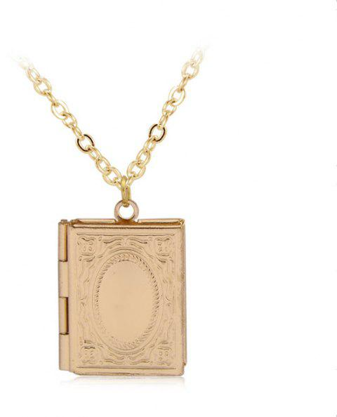 Simple Can Put Pictures of Pendants Carved Necklace - GOLDEN
