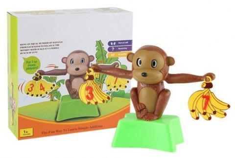 Jouets d'apprentissage d'addition et de soustraction de maths d'équilibre de Digital de banane de singe - Couleur