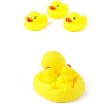 Hot Water Bath Swimming Duck Yellow Baby Bath Squeeze Audiometry Toys - YELLOW