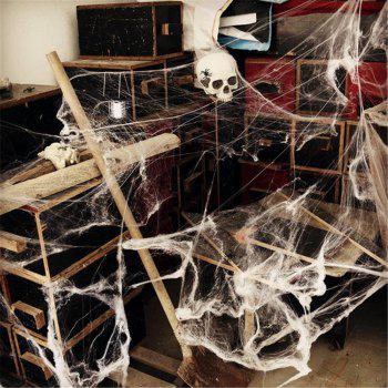 Party Scene Props White Stretched Spider Web Horror Decoration for Bar Haunted House - COLORMIX