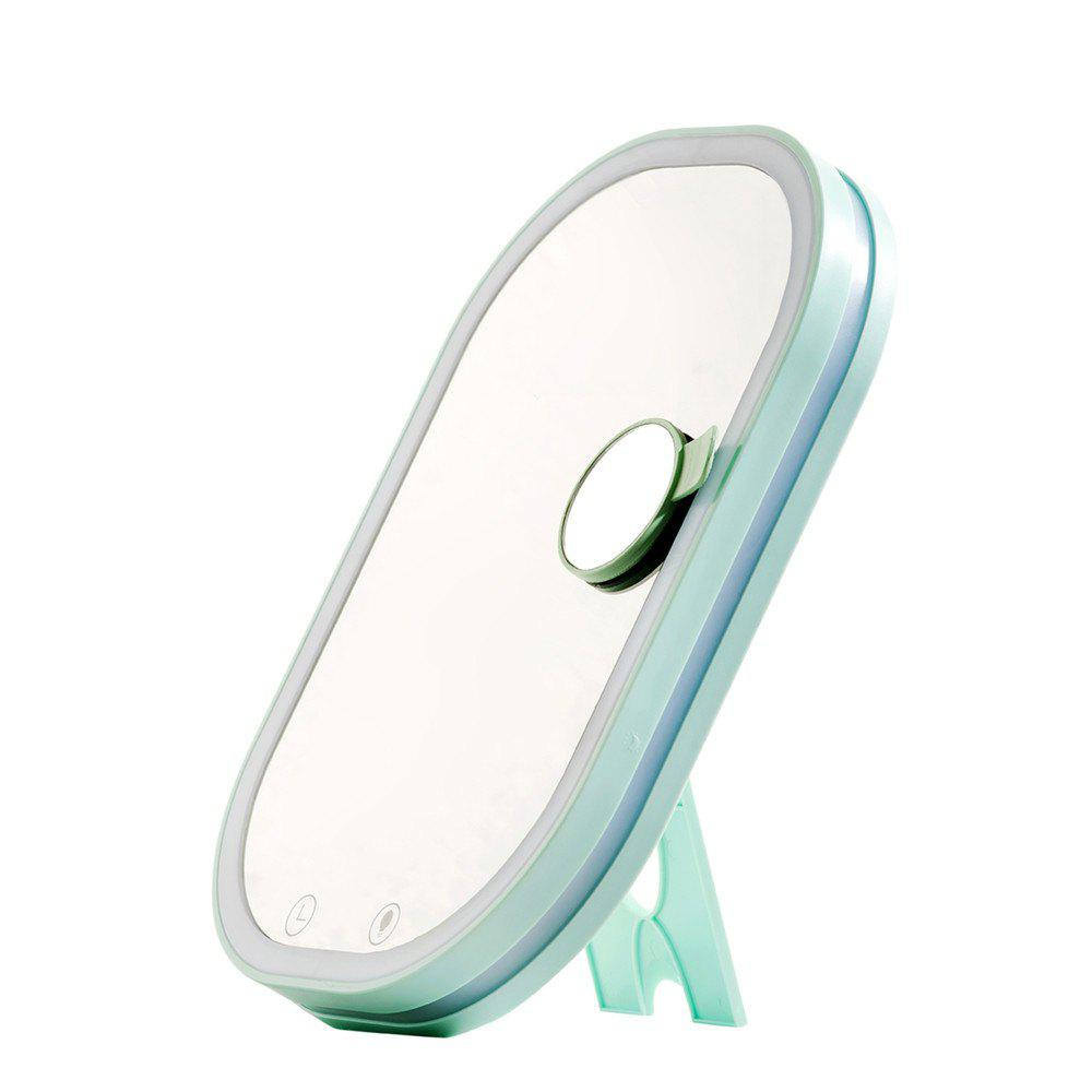 Charging Idea Can Hang Flat Makeup Mirror Lamp - GREEN