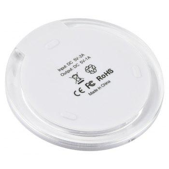 Cwxuan K9 Fast Charge Qi Wireless Charger Pad for Qi-devices - WHITE