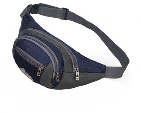 Nylon Multi-layer Sports Waist Bag for Man and Women - DEEP BLUE HORIZONTAL