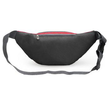 Nylon Multi-layer Sports Waist Bag for Man and Women - RED HORIZONTAL