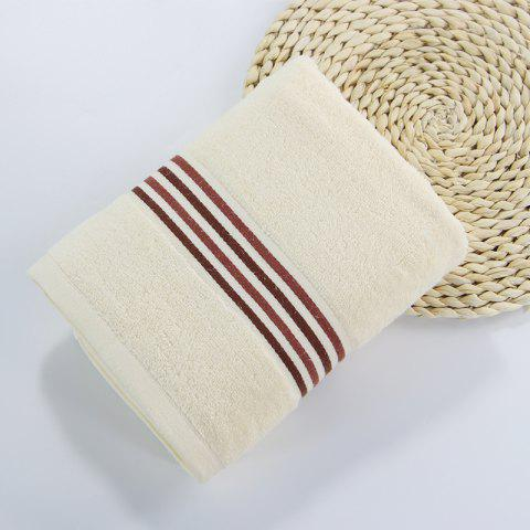 Muchun Brand Striated Jacquard Satin Superior Square Hand Hair Towel Face Towel For Kids Adults - BEIGE