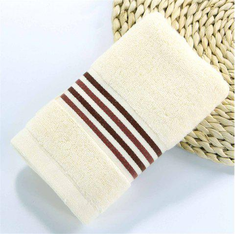 Striped Bath Towel for Adults Kids Soft Cotton Beach Bathroom Towel Super Absorbent Quick Dry - BEIGE