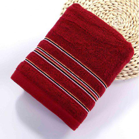 Cotton Soft Hair Towel Super Absorbant Home Textile Large Face Towel For Adult - RED