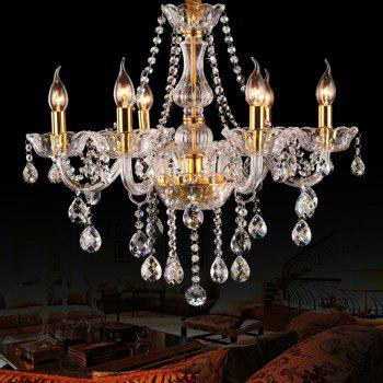 CP8006 European Style Deluxe Candle Crystal Chandelier - GOLDEN