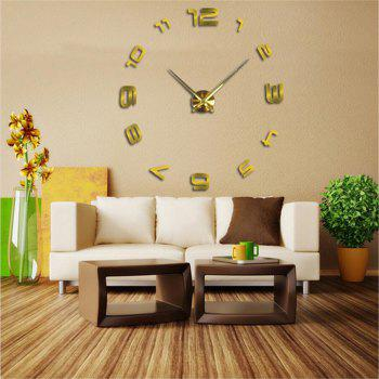 Modern Creative Fashion Simple And Large Size Creative Clock - GOLDEN BLOCK
