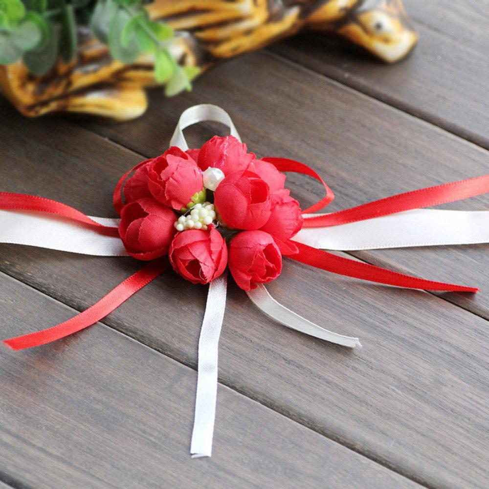 The Rose Emulational Wrist Flower Decoration - RED